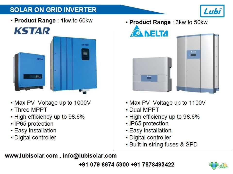 Wide Range Solar On Grid Inverter Available K Star Inverter 1kw To 60kw Delta Inverter 3kw To 50kw Contac Solar Panel System Solar Power Panels Solar Panels