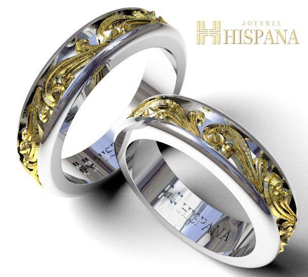 de14a591e684 Argollas de Matrimonio Ref AR1 Dos oros Centro Amarillo