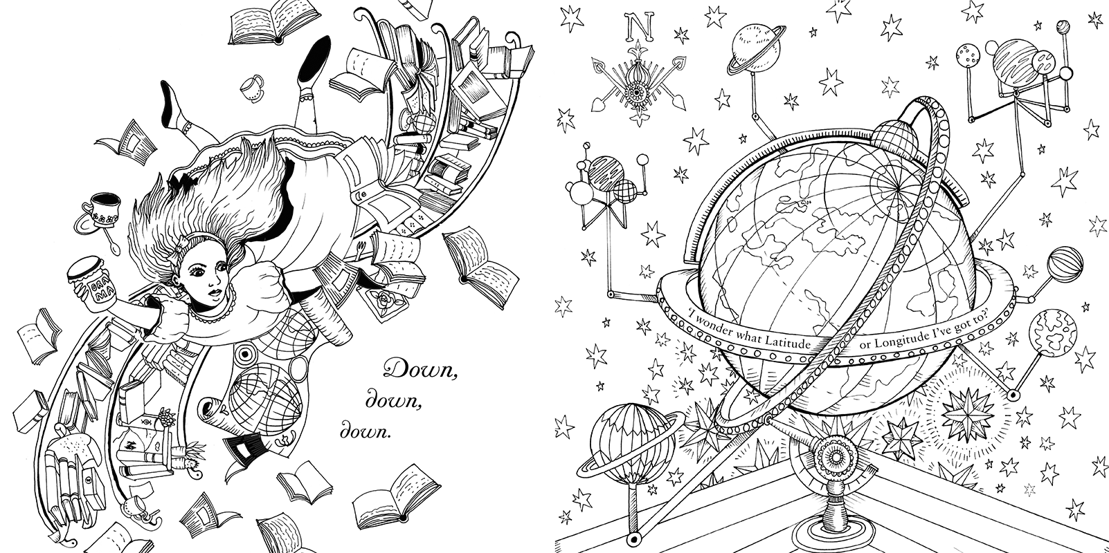 escape to wonderland colouring book - Google Search | Printables ...