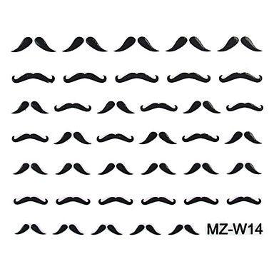 2PCS Beard Nail Art Stickers Mixed Pattern No.14-16 – CAD $ 2.42