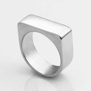Personalized Polished Flat Top Ring