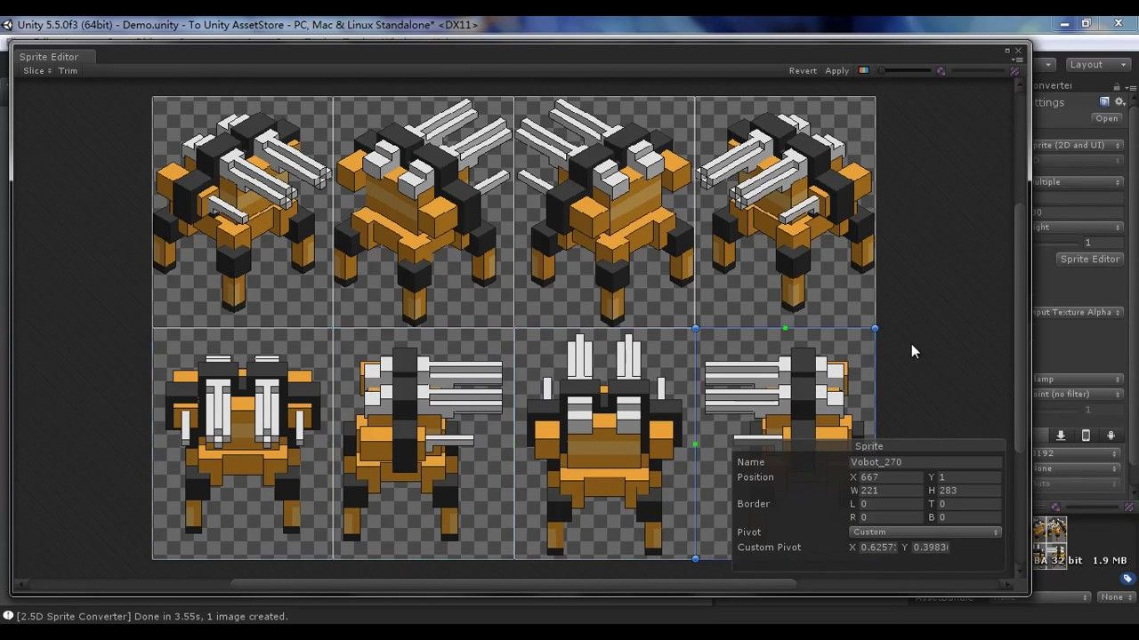 Unity] Create 2 5D Sprite From Any GameObject | unity importing