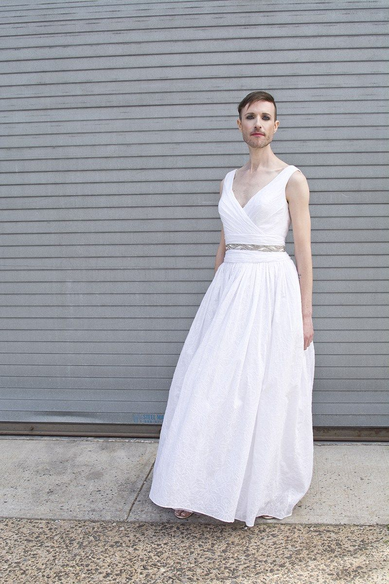 This gender fluid wedding dress photo shoot gives zero fucks about