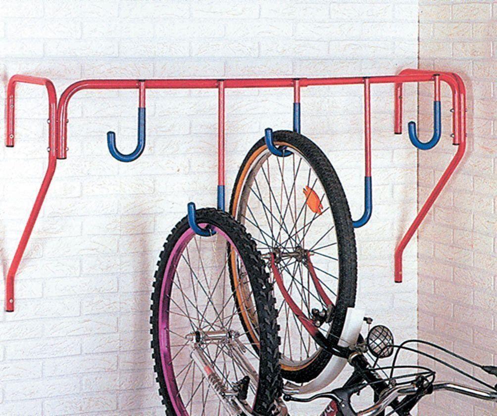 Mottez 5 Bike Wall Mount Stand Amazon Co Uk Sports Outdoors