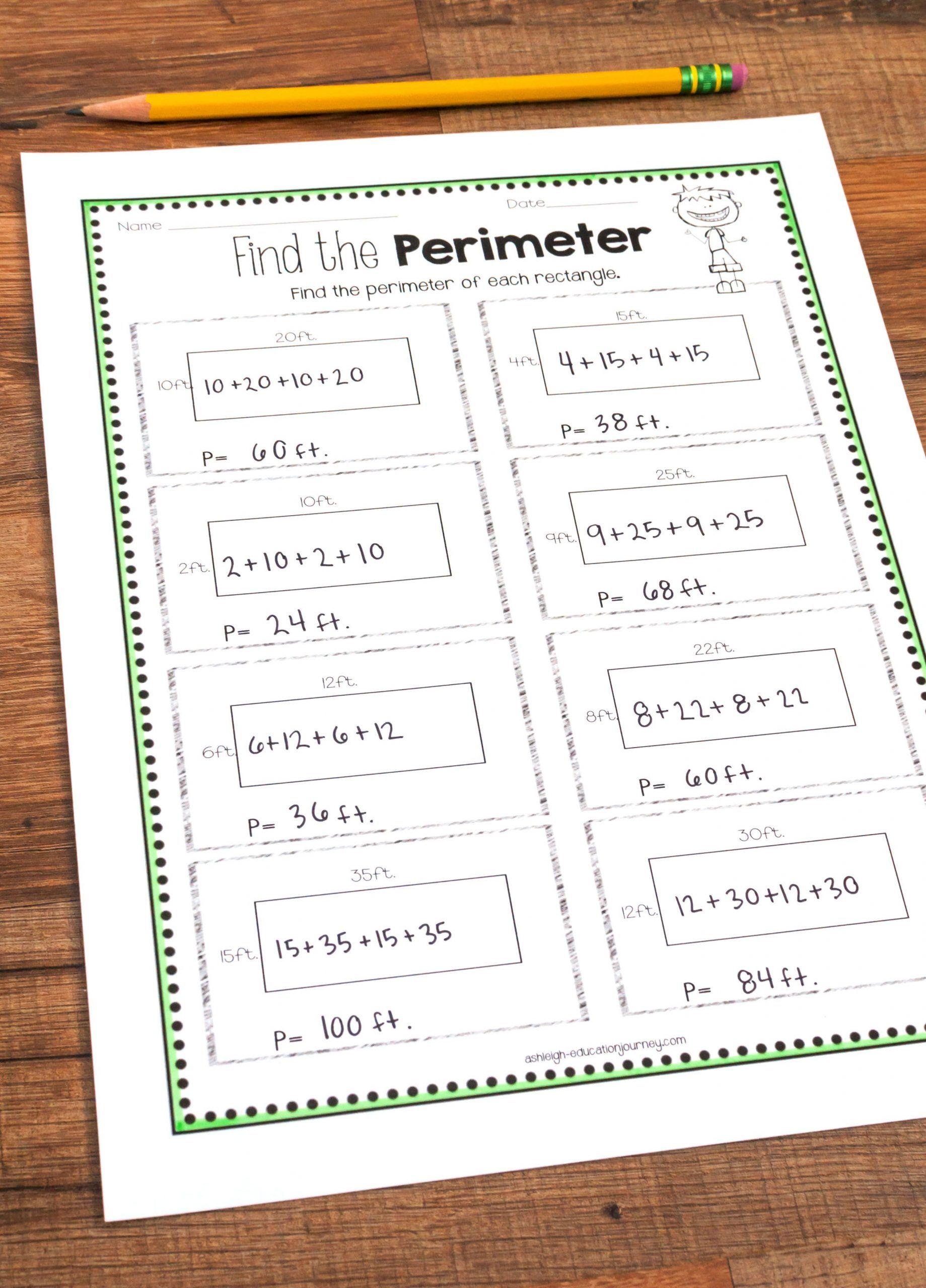 Perimeter Worksheets 3rd Grade   Perimeter worksheets [ 2560 x 1839 Pixel ]