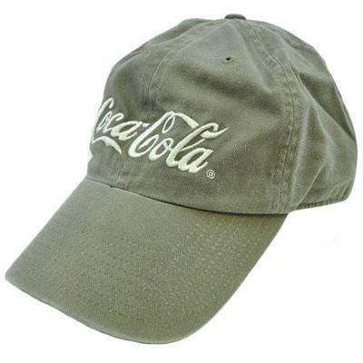 44f72ac768739 Coca Cola Coke Soda Drink Garment Wash New York Gray Brown Khaki Velcro Hat  Cap by