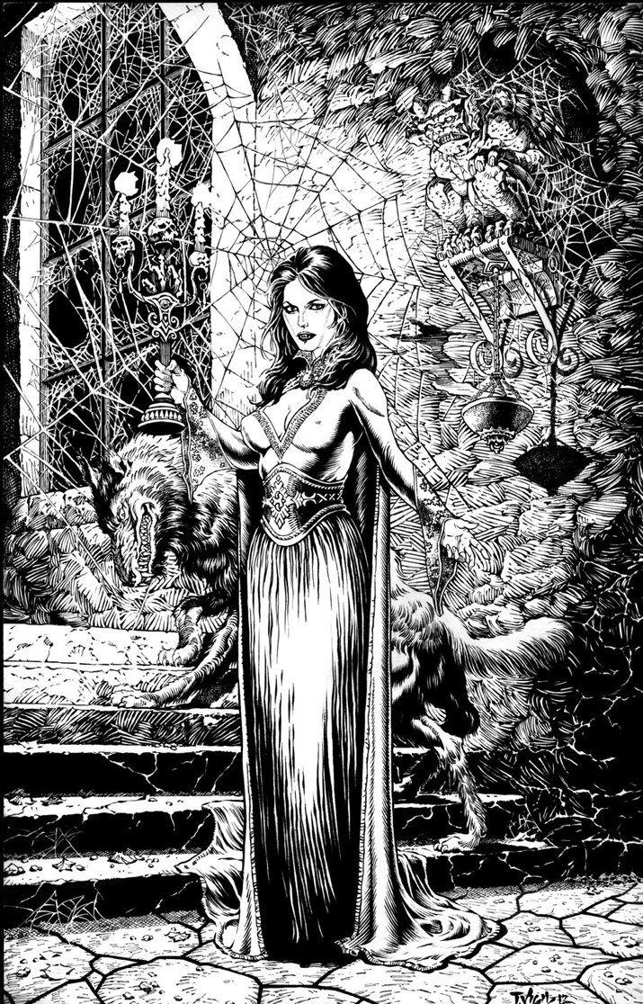 Dark Stairway by Tim Vigil The character is Mona Lisa by Tim Vigil ...