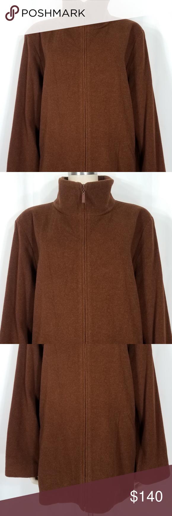Eileen Fisher Brown Wool Zip Up Coat Womens 3x Ladies Full Zip Jacket Coat Eileen Fisher Brand Size 3x Coats For Women Eileen Fisher Jacket Clothes Design [ 1740 x 580 Pixel ]