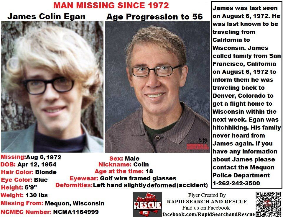 Wisconsin in the 1970s To assist with Amber Alerts and missing - missing person picture