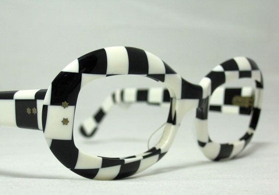 c1ab4300a5f9 Vintage Eyeglasses. Black and White by CollectableSpectacle. Vintage  FramesOptical ...