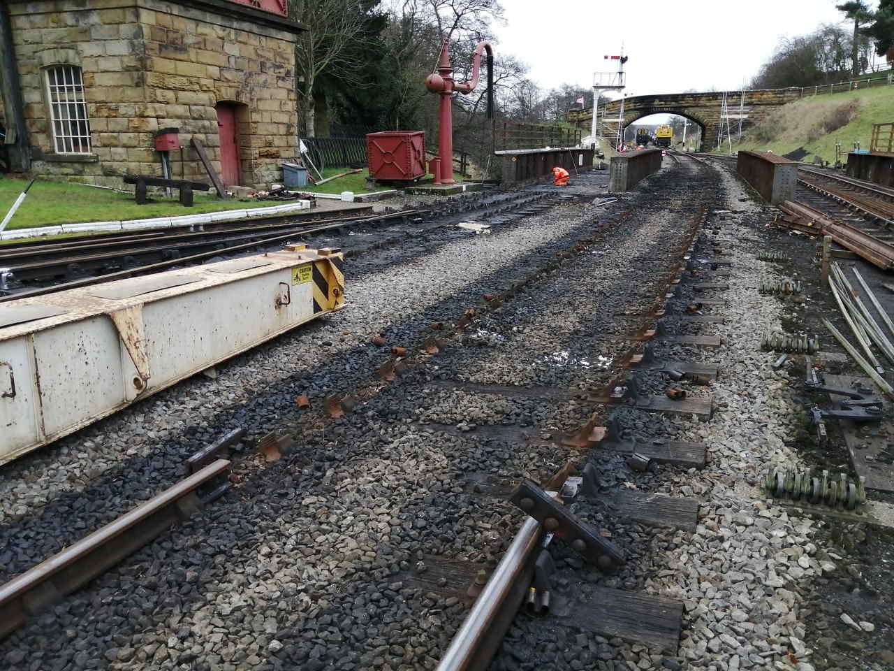 Work begins on Goathland railway bridge removal North