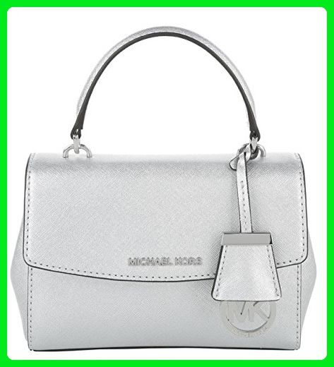 Michael Kors Ava Silver Metallic Saffiano Leather XS Satchel - Satchels (  Amazon Partner-Link) 7d16f6a5c7acb