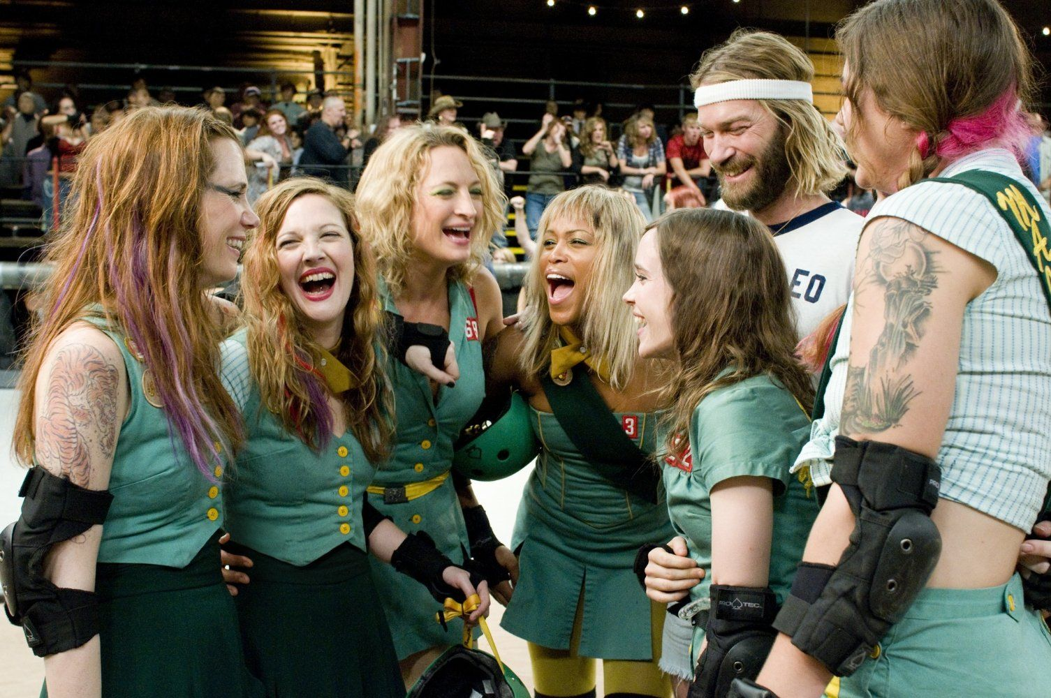 Drew Barrymore, Ellen Page, Andrew Wilson, Zoë Bell, Eve