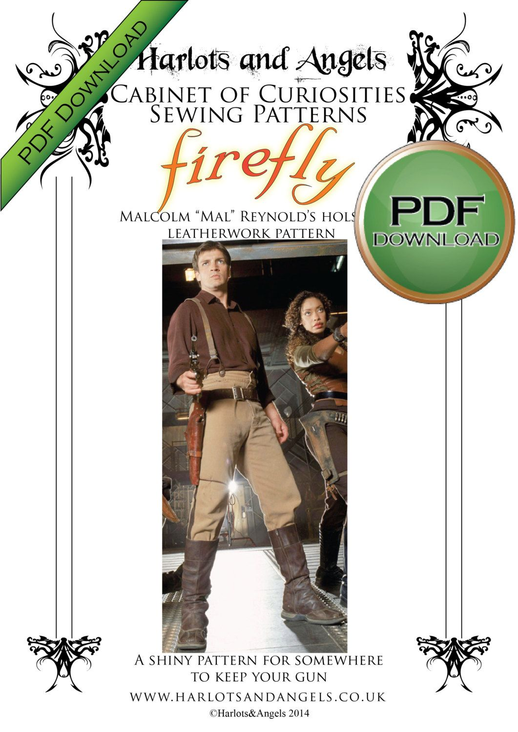 Holster Pattern for Firefly Malcolm Reynolds, Mal, Cosplay