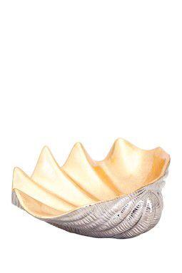 Geneva Ceramic Shell Decorative Bowl