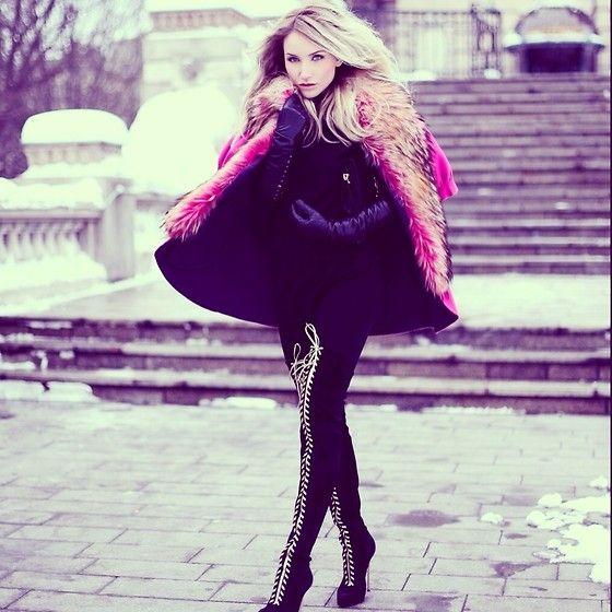 Valentino Fur Coat, Casadei Boots