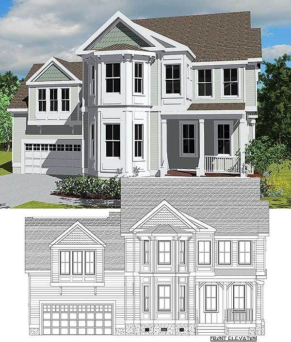 Plan 30085rt Exclusive Victorian With Bay Windows Victorian House Plans Bay Window New House Plans