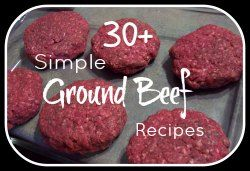 USimple Ground Beef Recipes - substitute ground turkey to lighten it up