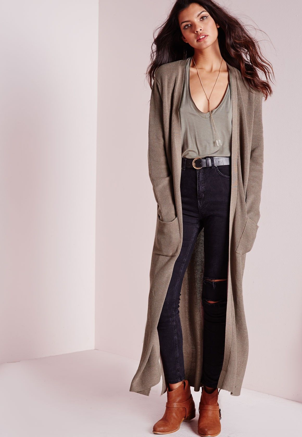 Missguided - Chunky Duster Cardigan Taupe | Clothes | Pinterest ...