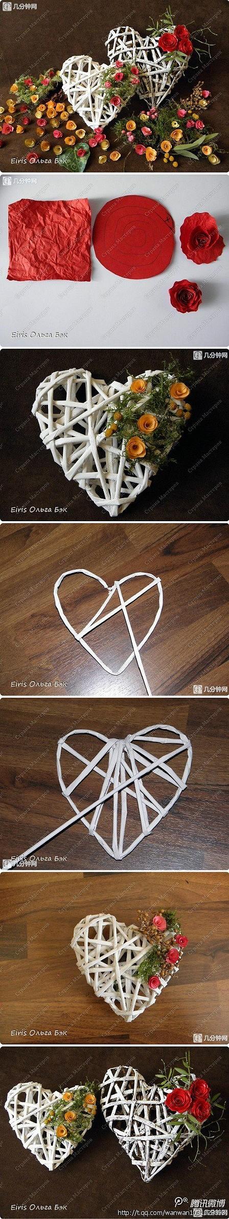 Handmade hearts - lovely.