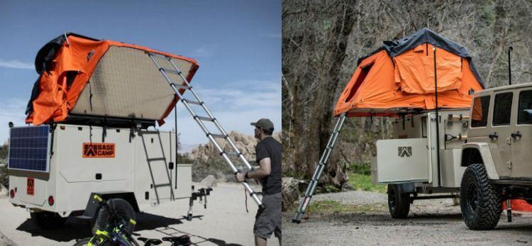 Camping Anhanger Offroad Outdoor Zelt Ausziehen Solar Paneele