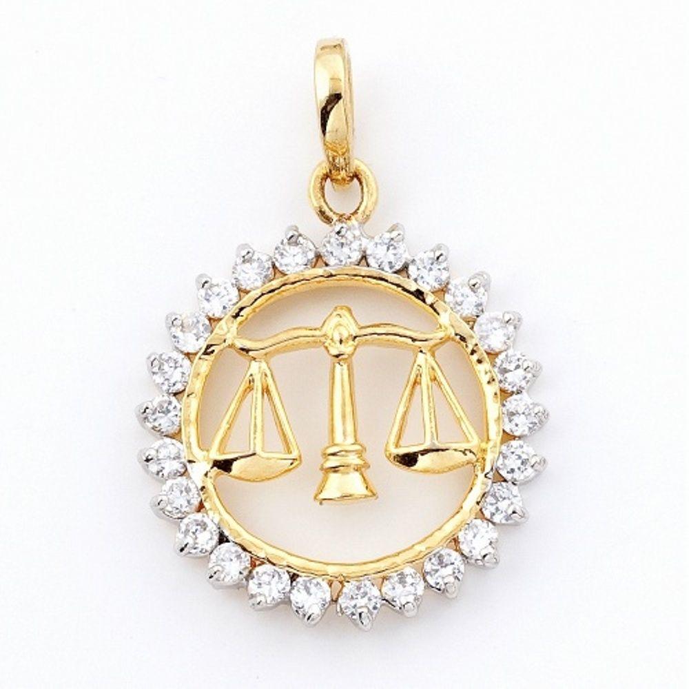 Scales of Justice diamond pendant