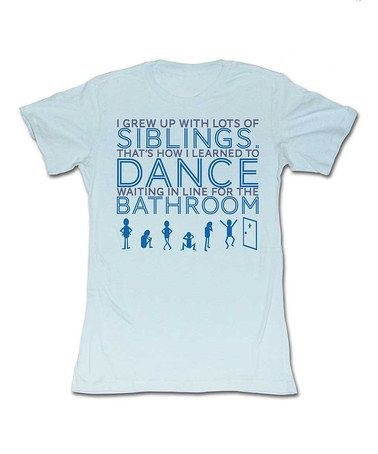 d1dcc9f22b6750 Take a look at this Light Blue Siblings Dance Tee - Women by American  Classics on  zulily today!