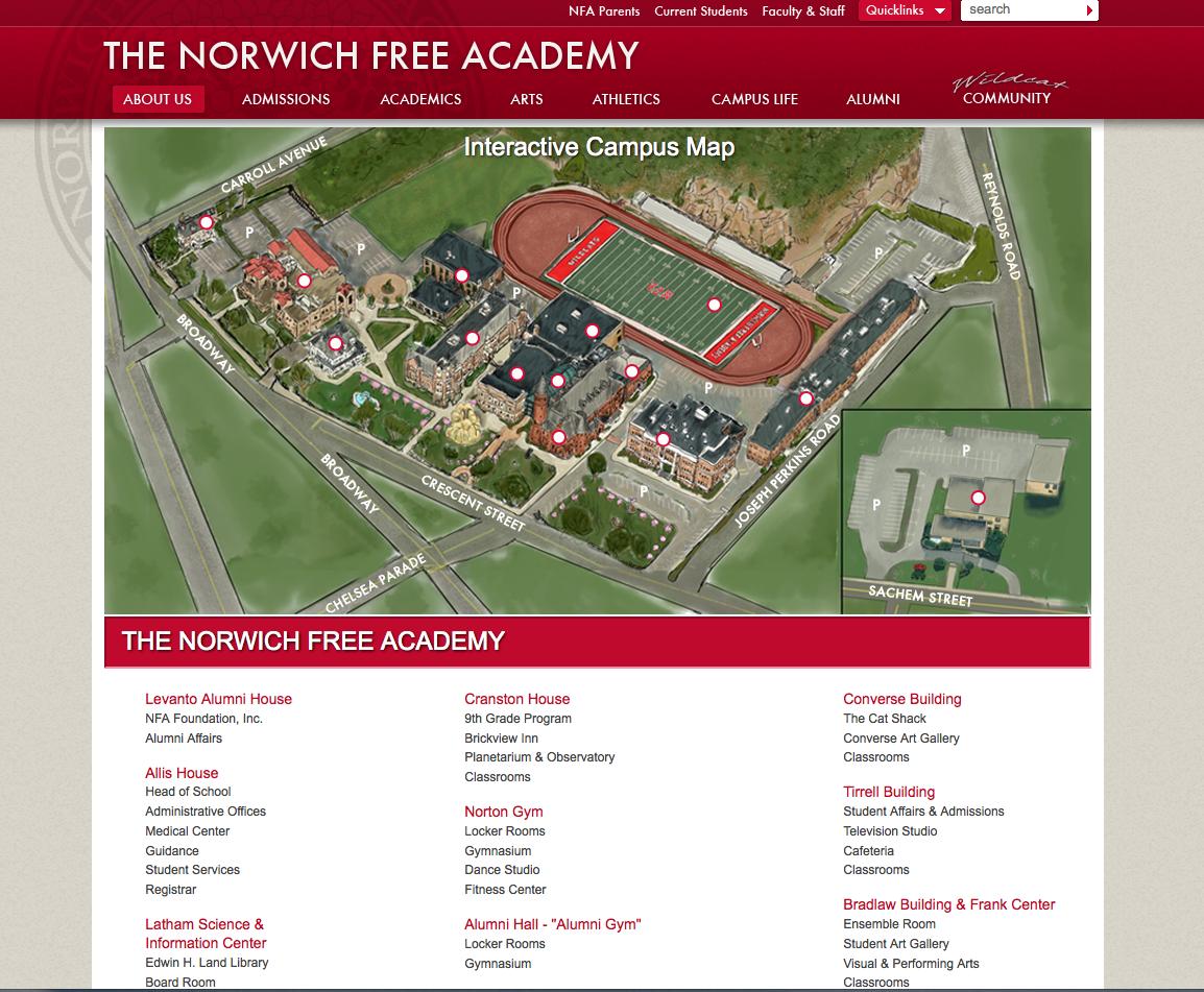 Norwich Campus Map.Norwich Free Academy My Old High School In Ct My Bio
