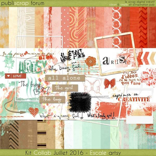 PBS-escale artsy Free digital kits PUBLISCRAP Pinterest Artsy