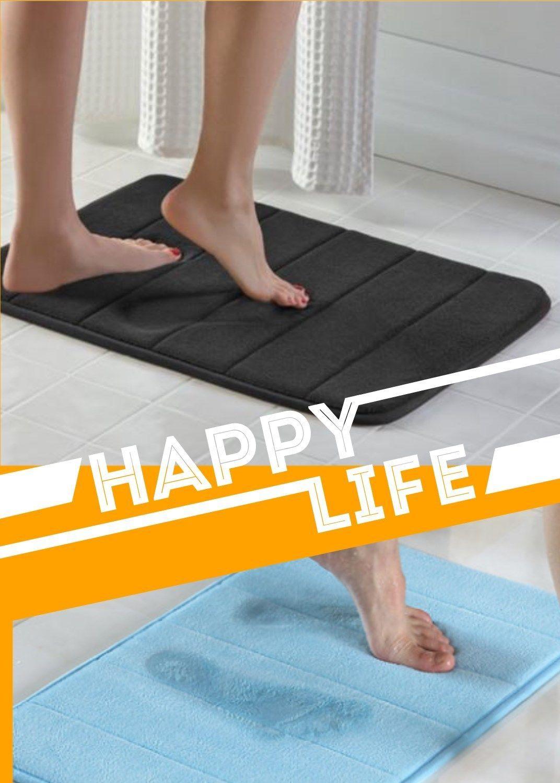 Absorbent Soft Bath Mat Bathroom Shower Rug Waterproof Memory Foam Non Slip Gift 9 79 Bathroom Rugs Idea In 2020 Soft Bath Mat Shower Rugs Washable Bathroom Rugs