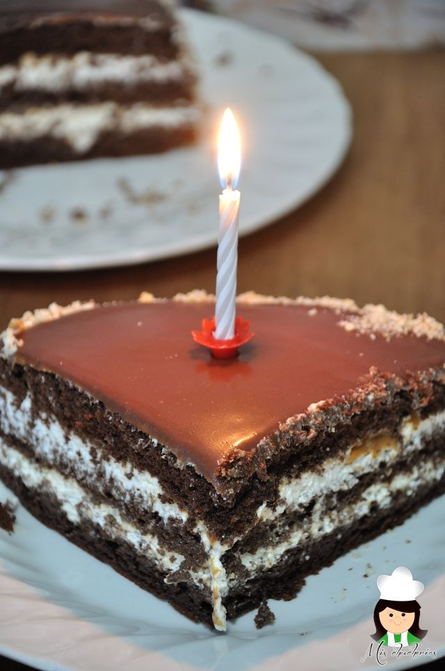 Tarta De Chocolate Con Cobertura Milka Chocolate Cake With Milka Cover Tartas Recetas De Chocolate Comidas Dulces