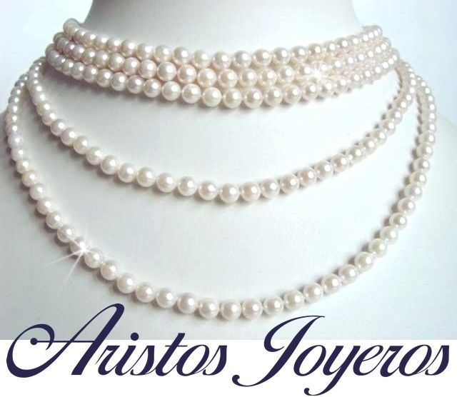 ¡Hermosos collares de perlas legitimas de Turquia y Tahilandia con el 20% de descuento! #Regalos #Perlas #Moda #Diseño