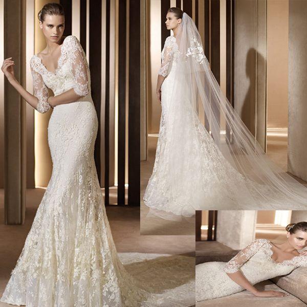 Romantic Lace Wedding Dress (111161) | Romantic lace, Lace wedding ...