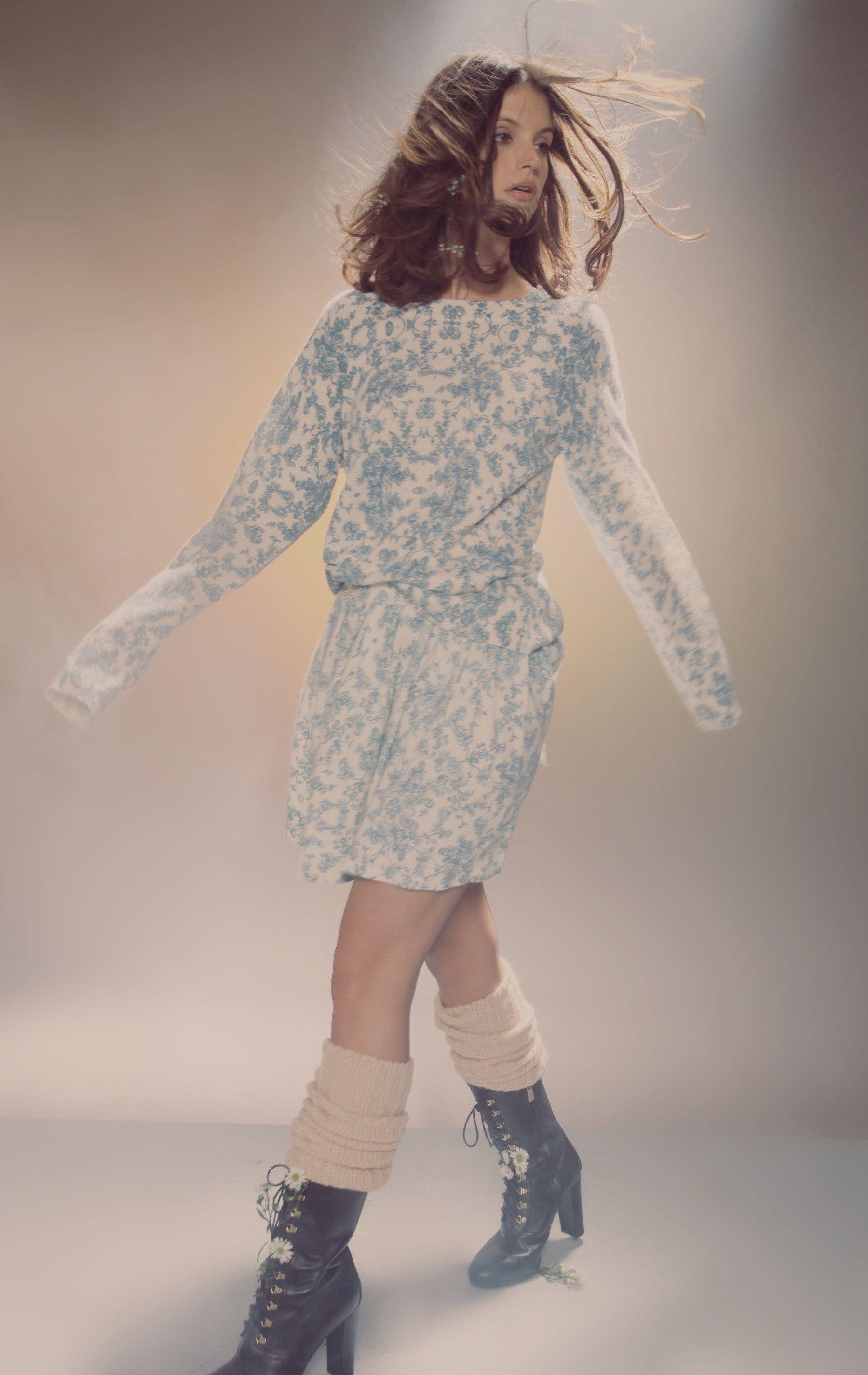 Toile 70 S Mini Sweater Sweaters Long Sleeve Dress Sweater Dress