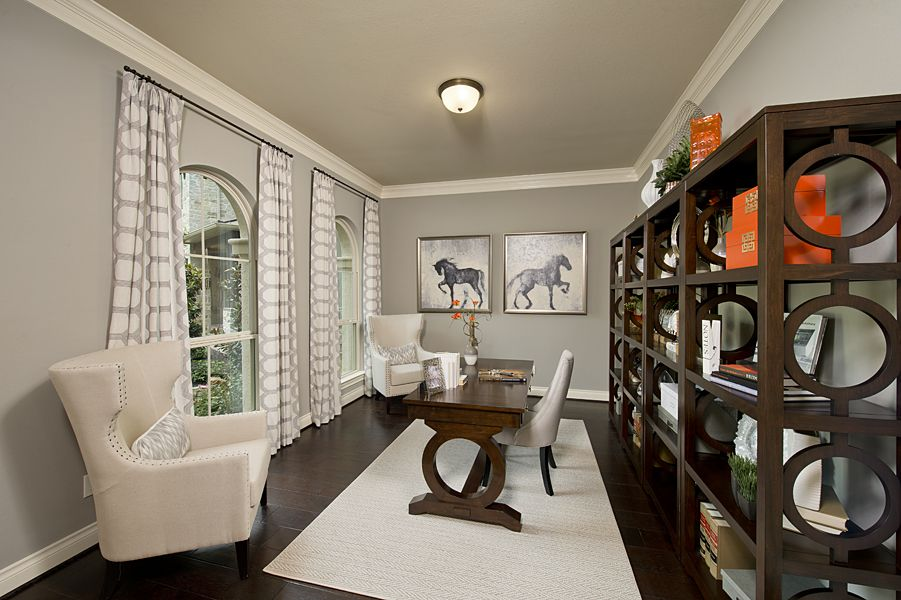 4931 sq ft model home study home office design