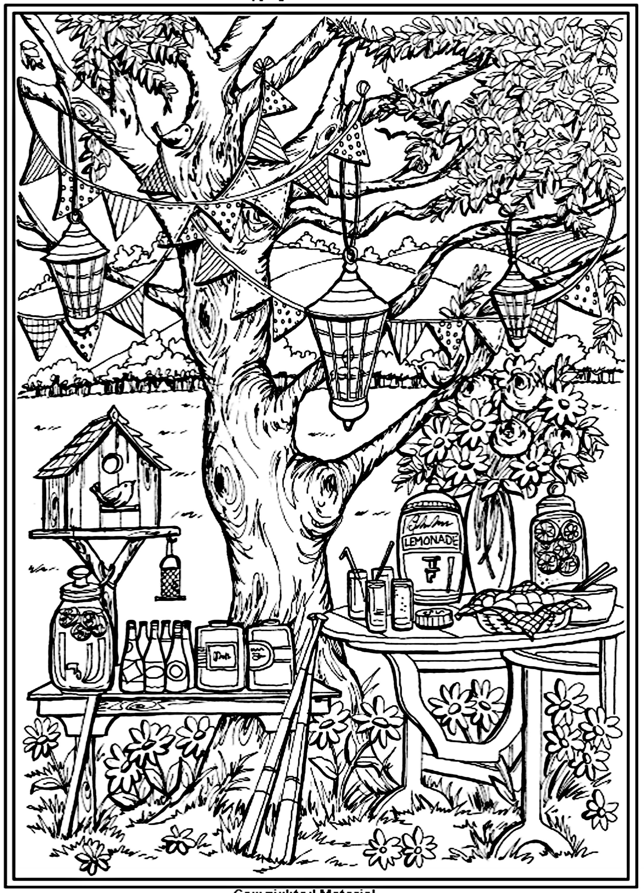 Magic Garden Coloring Page For Adults Creative Haven Coloring Books Garden Coloring Pages Coloring Pages