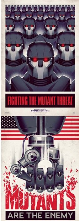 X-MEN:DAYS OF FUTURE PAST-MUTANTS ARE THE ENEMY.  i cant wait but i will.