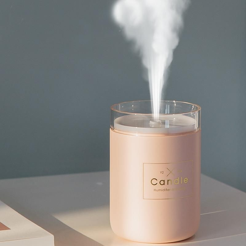 280ML Ultrasonic Air Humidifier With Candle Romantic Soft