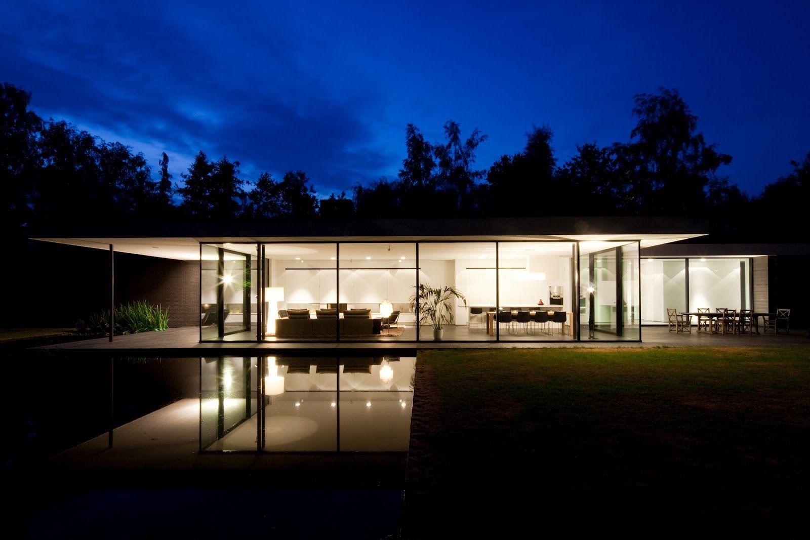 Modern Design Ultra Modern Glass House Architecture House House