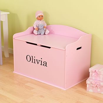 Kidkraft, baúl personalizado para juguetes, color rosa   Costco ...