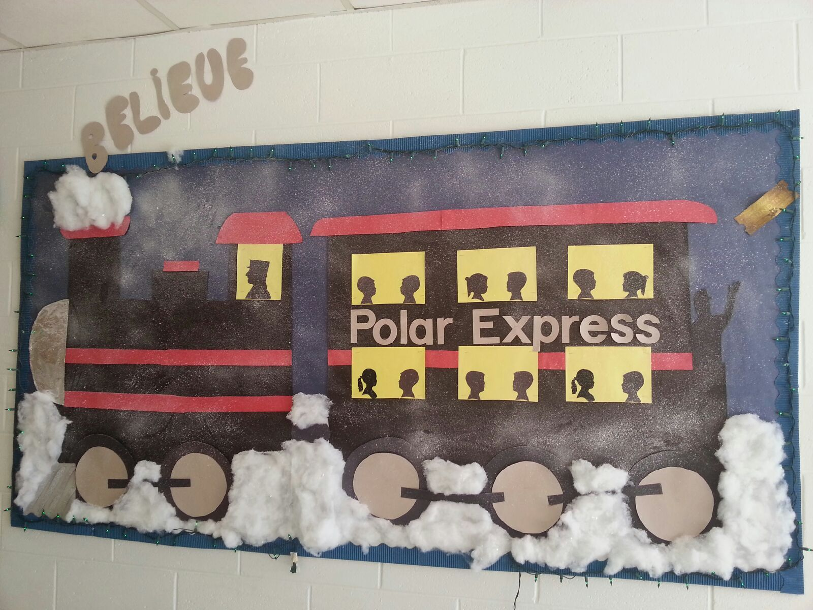 Polar Express Classroom Decoration Ideas ~ Polar express bulletin board our class boards
