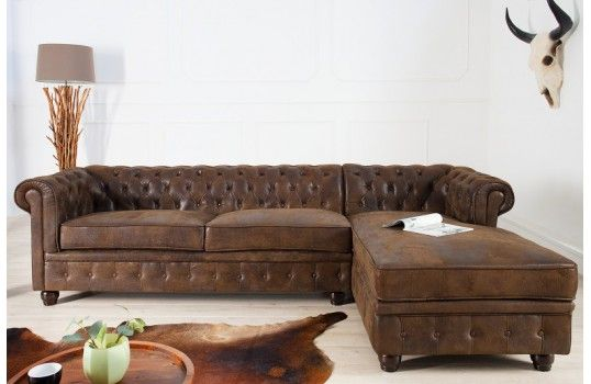 Canapé d\'angle Chesterfield | Chesterfield and Salons