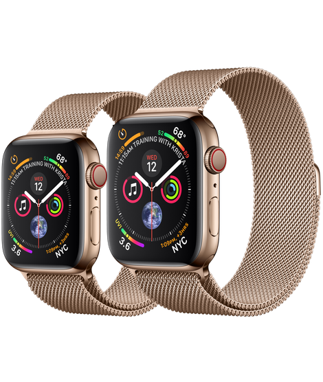Gold Stainless Steel Case With Gold Milanese Loop 40mm 44mm