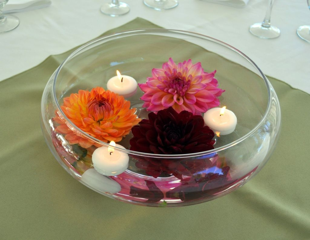 Bowl Decoration Ideas Bowl Centerpiece Ideas With Flowers And Floating Small Candles