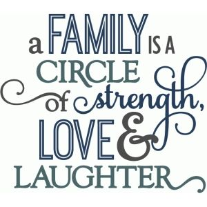 Silhouette Design Store: Family Circle Of Strength - Layered Phrase