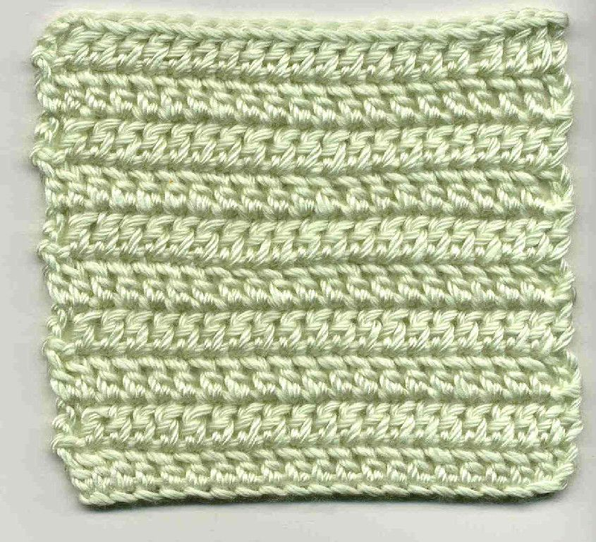 Taller Stitches - Basic Front-and-back dc - Tutorial by Hazel Furst ...
