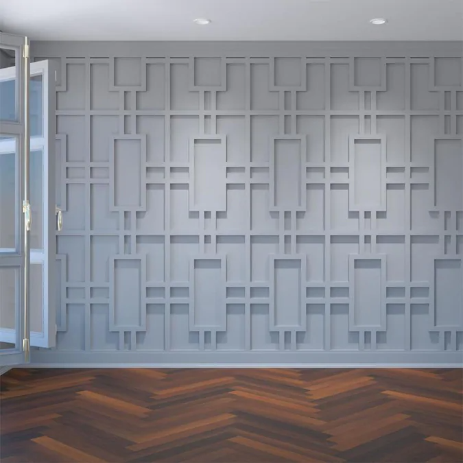 Ekena Millwork Large Hastings Fretwork 15 1 2 In X 23 3 8 In Smooth White Wall Panel Lowes Com In 2020 White Wall Paneling Decorative Wall Panels Pvc Wall Panels