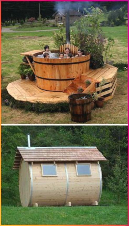 27 Uberzeugende Spa Designs Fur Ihren Garten Bois Bois Deco Bois Projets Bois Terrace Fur Garten Ihren Lampe Bo In 2020 Hot Tub Outdoor Outdoor Tub Diy Hot Tub