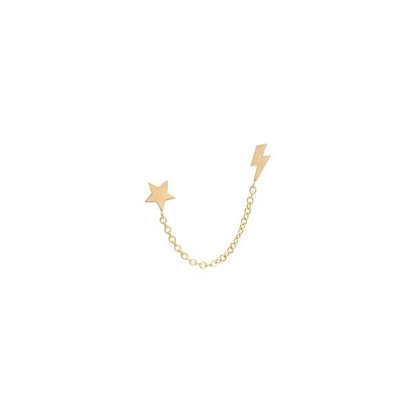 629c86c5d Zoë Chicco – Zoë Chicco 14kt Gold Double Baguette Diamond Chain Stud Earring