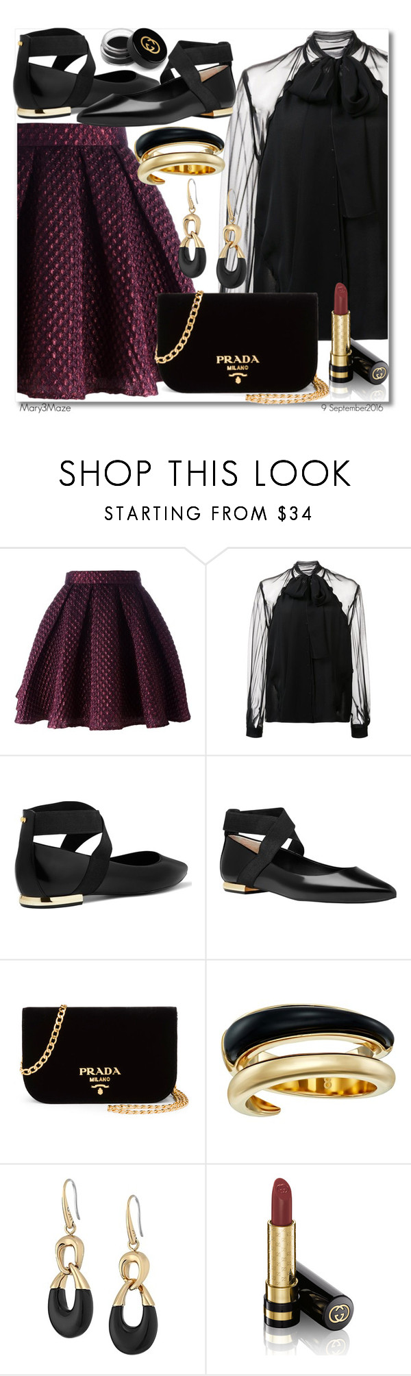 """""""My Dream OOTD! :)"""" by octobermaze ❤ liked on Polyvore featuring Daizy Shely, Carolina Herrera, Ted Baker, Prada, Michael Kors, Gucci and ootd"""